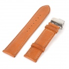 Chimaera CY-B-22 22mm / 20mm Genuine Leather Watch Band Strap & Clasp - Brown