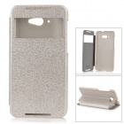 ROCK TZ-LN30 Protective PC + PU Case w/ Stand for Lenovo S930 - Silver