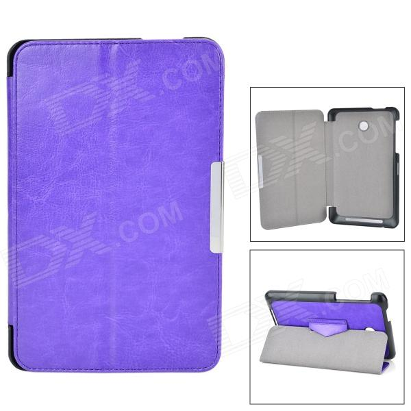 Protective PU Case w/ Stand for ASUS MeMO Pad HD 7 / ME175KG - Purple beautiful gitf new luxury stand case cover for asus memo pad 7 me176c me176cx tablet wholesale price jan16