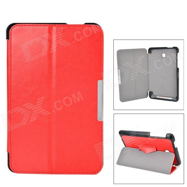 Protective PU Case w/ Stand for ASUS MeMO Pad HD 7 / ME175KG - Red protective pu plastic case w stand for 7 asus fe7010cg brown