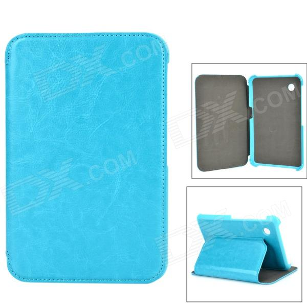 Protective PU Case w/ Stand for Samsung GT-P3100 / P3110 / P6200 / P6210 - Blue free shipping original and new 7inch lcd screen hv070wsa 100 hv070wsa for p1000 p6200 p3100 p3110 tablet pc