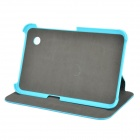 Protective PU Case w/ Stand for Samsung GT-P3100 / P3110 / P6200 / P6210 - Blue