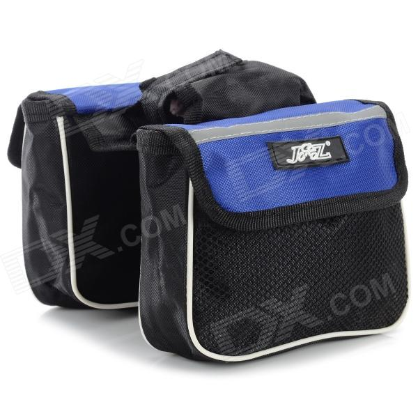 JSZ Handy Durable 3-in-1 Top Tube Bag for Bicycle - Black + Blue велопокрышка continental contact speed 700 x 28c 700c 28 622 180tpi защита от проколов 101402