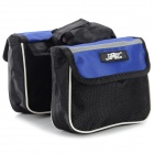 JSZ Handy Durable 3-in-1 Top Tube Bag for Bicycle - Black + Blue