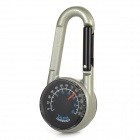 6.9cm Aluminum Alloy Carabiner w/ Compass / Thermometer - Light Green + Black
