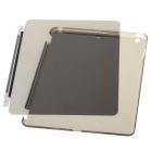 Ultra-thin Three Fold Protective PU + PC Case w/ Stand / Auto Sleep for IPAD AIR - Black