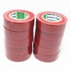 Jiahui Water Resistant PVC Insulation Electrical Adhesive Tapes - Red (10 PCS)
