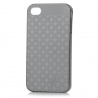 HELLO DEERE Grid Pattern Shining Protective PC Back Case for IPHONE 4 / 4S - Black