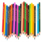 2024 Wood Water Soluble Pencils w/ Case - Silver (24-Color)