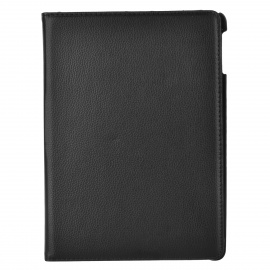 360 Degree Rotary Protective PU + PC Flip Open Case w/ Stand / Auto Sleep for IPAD AIR - Black