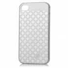 HELLO DEERE Grid Pattern Shining Protective PC Back Case for IPHONE 4 / 4S - Silver