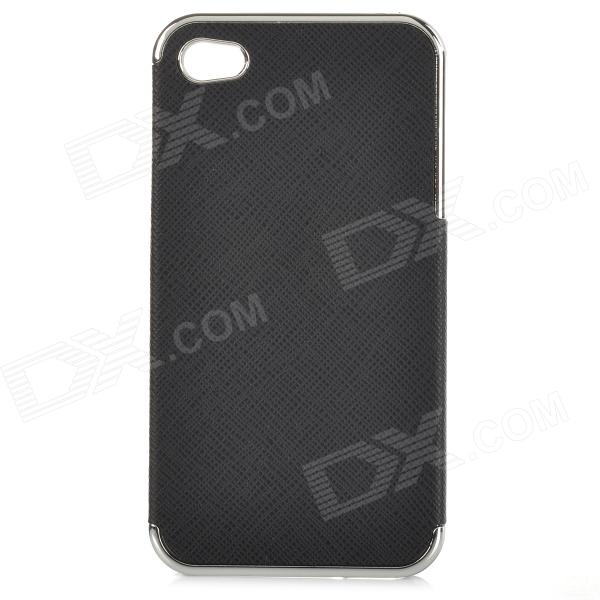 Protective PU + Resin Back Case for IPHONE 4 / 4S - Black блузки к р cache cache