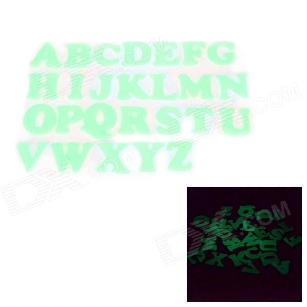 DIY Glow-in-the-Dark Educational 26 adesivos de parede em inglês do alfabeto 3D - Light Green (26 PCS)