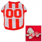 QY Cute Short T-shirt for Pet Dog - White + Red (M)