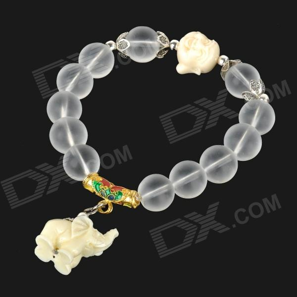 Elephant Style Frosted Crystal Beads Bracelet horizon elephant ultimaker original ultimaker 2 cyclops multi color hotend kit hot end 2 in 1 out switching hotend 12v 24v 3d pr