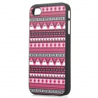 cqda Tribe Pattern Protective ABS Back Case for IPHONE 4 / 4S - Black + Red + Multi-Colored