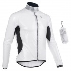 Monton Ultrathin Cycling Polyester Fiber Jacket - Black + White (L)