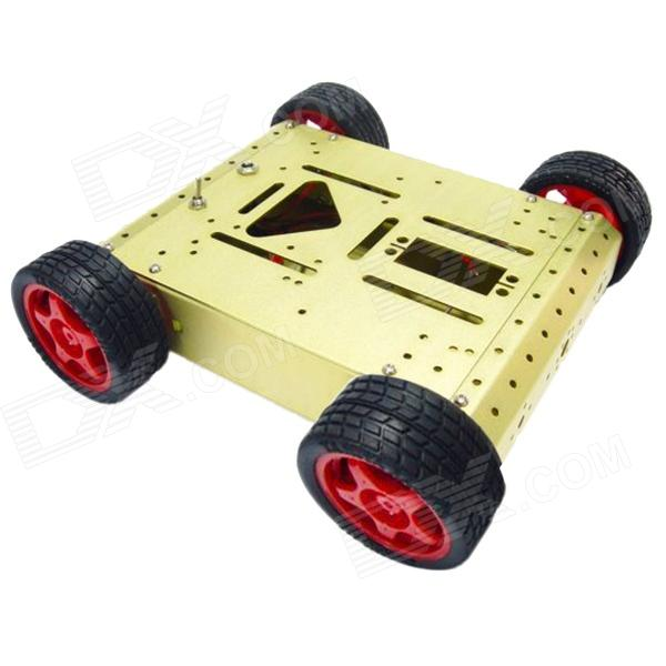 Robotbase RB - 13K 007 AS-4WD aluminiumslegering mobil Robot Kit - Golden