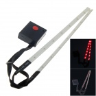 Outdoor Bicicleta de 14 LED 3-Mode Red Laser Raio de Luz Set - Branco (2 x AAA / 2 PCS)