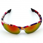 Outdoor Cycling Men's Sunglasses Goggles - White + Red