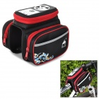 SHAN FU TA-20 Outdoor Bicycle Front Tube Waterproof Speaker Bag - Black + Red