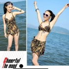 Fashion Sexy Bikini Swimwear Set - Camouflage (Size M)