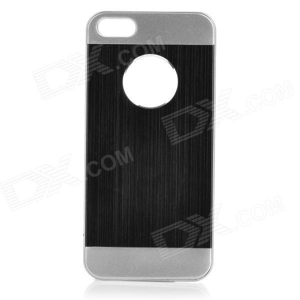 Cqda Protective Aluminum Alloy Back Case for IPHONE 5 / 5S - Black + Silver