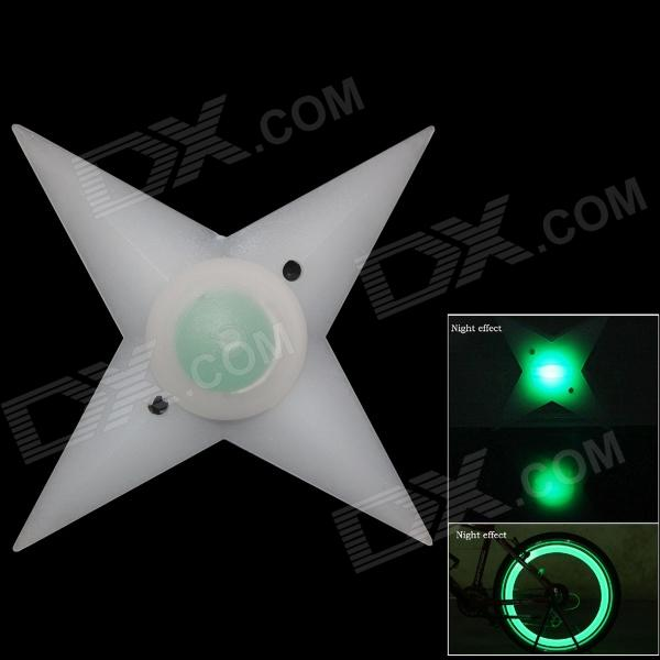 TOP-FLIGHT Outdoor Cycling Bike Green LED Darts Style 3-Mode Spoke Light - White (1 x CR2032)