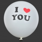"12"" Thicken ""I LOVE YOU"" Latex Balloon - White (10 PCS)"
