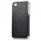 cqda Protective ABS + PC Back Case for IPHONE 4 / 4S - Black + Silver