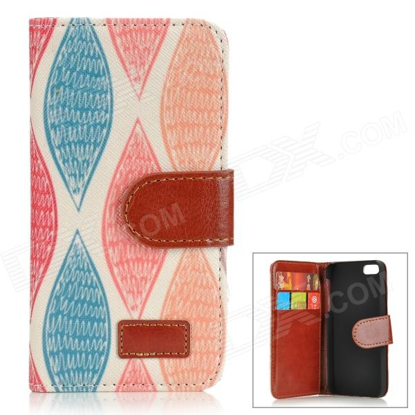 rhombuses-pattern-protective-pu-leather-case-for-iphone-5-5s-orange-blue-multicolored