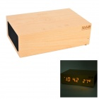 W1 12V 2A USB 3.5mm Bluetooth V3.0 + EDR Speaker w/ LED Clock / Alarm / Thermometer / Handfree Mic.