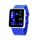 SKMEI Fashion Waterproof LED Digital Watch - Deep Blue (1 x CR2016)