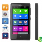"NOKIA X Nokia Platform (Android 4.1) WCDMA Dual-core Bar Phone w/ 4.0"" Screen GPS, MixRadio - Black"