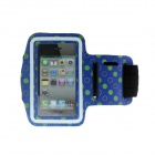Tupfen-Muster Outdoor Sports Gym Armband Case für iPhone 4 / 4S - Blau