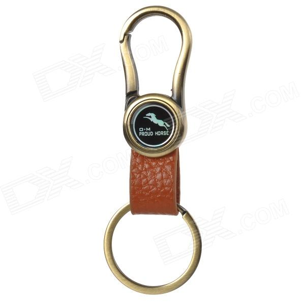 PROUD HORSE OM010 Stainless Steel + Zinc Alloy Keychain - Bronze