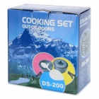 DS-200 Handy Portable Outdoor Cooker Set for Camping - Ash Black