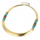 Retro Zinc Alloy Short Style Necklace - Bronze + Green