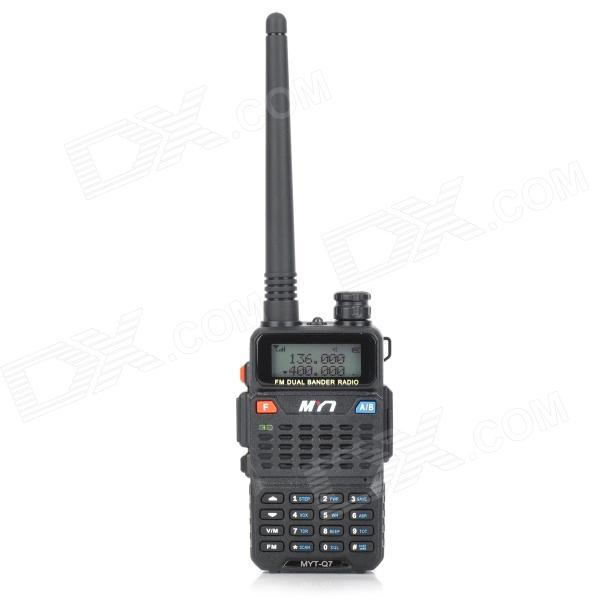 MYT-Q7 Wireless Dual Band 128-Channel Walkie Talkie w/ FM - Black whirlpool adpf 872