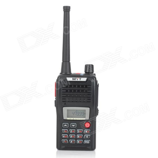 MYT-V83 Handheld 199-Channel UHF / VHF Walkie Talkie - Black