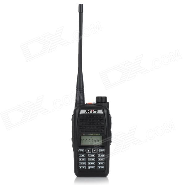 MYT-Q2 Handheld 128-Channel UHF / VHF Walkie Talkie - Black