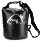 Wind Tour Outdoor Oxford Waterproof Multifunctional Bag - Black (20L)