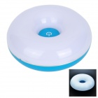 GY-100 Doughnut Shaped 0.84W 12-LED Touch Control Rechargeable White Light Night Lamp (4.5~5.0V)