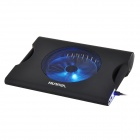 "Hunpol NB-078 USB Blue LED Light Cooling Pad 1-Fan Cooler w/ Speaker for 12"" ~ 17"" Notebook - Black"