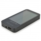 PUDINI WB-HD60 3600mAh Solar Powered Mobile Power Bank w / 10 x adaptrar - svart