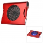"Hunpol NB-078 USB Blue LED Light Cooling Pad 1-Fan Cooler w/ Speaker for 12"" ~ 17"" Notebook - Red"