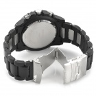 M001 Men's Fashionable Water Resistant Casual Analog Quartz Wrist Watch - Black (1 x SR626SW)