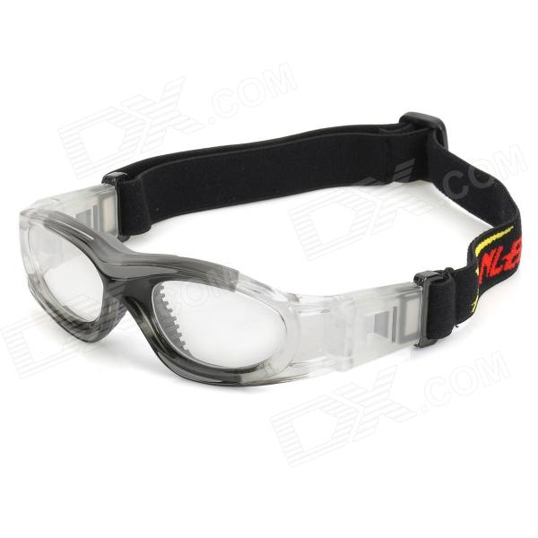 Panlees JH821 Outdoor Sports PC Glasses / Goggles for Kids - Gradient Grey panlees jh817 sports safety glasses goggles for shortsighted football basketball lovers