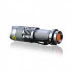 KINFIRE SK88 LED 150lm 3-Mode White Zooming Flashlight - Silver + Orange (1 x AA / 14500)