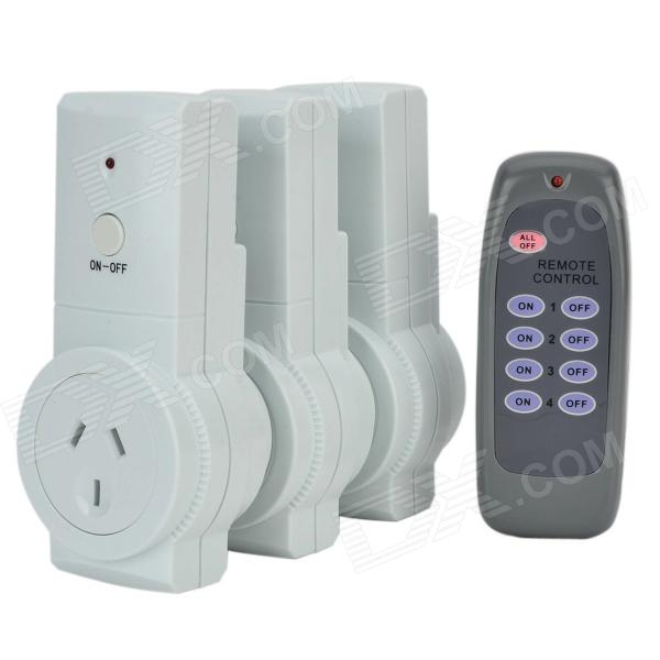 Tai Shen TS-868 3 x AU-Plug Socket + Remote Controller Set for Household Electric Appliances (240V)